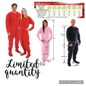 NWOT - Classic Red Adult Footed Pajamas